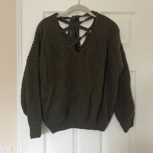 Goodnight Macaroon tie-back sweater